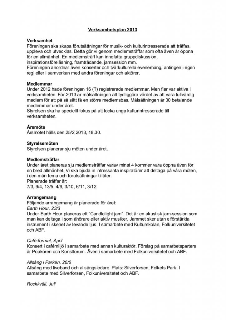 Verksamhetsplan2013