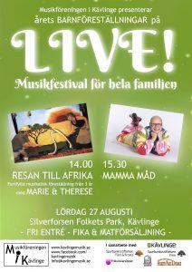 Poster LIVE Barnföreställning 2016